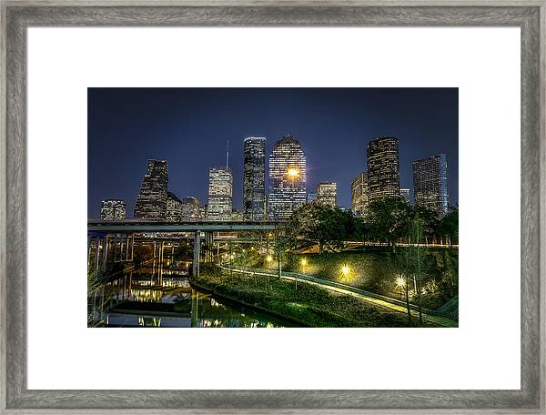 Houston On The Bayou Framed Print
