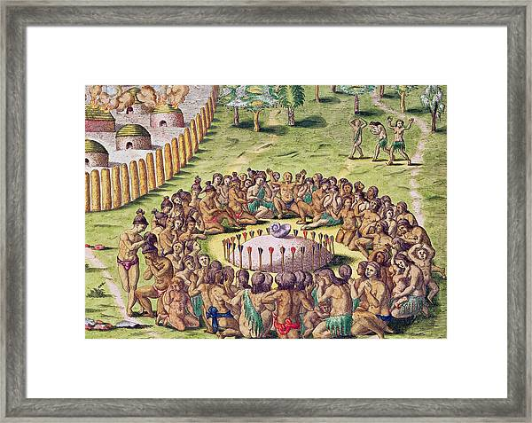 How The Chief Is Buried Framed Print