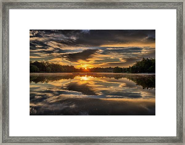 Hoyt Lake Sunrise Framed Print