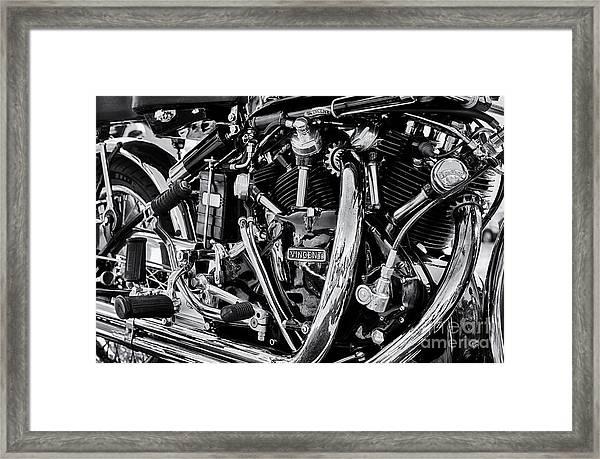 Hrd Vincent Motorcycle Engine Framed Print