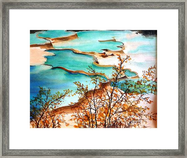 Huanglong Blue Framed Print