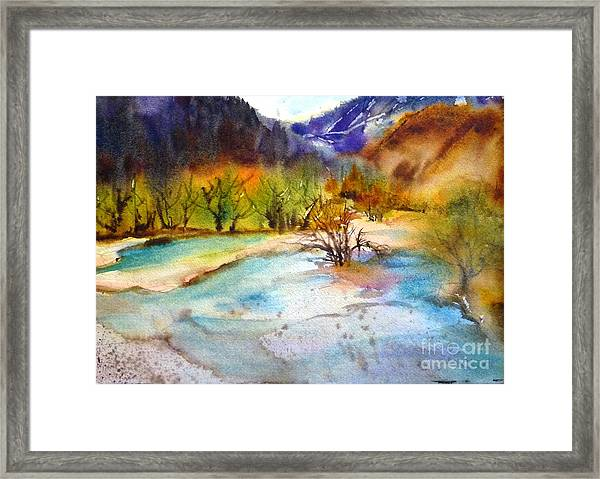 Huanglong Fairyland Framed Print