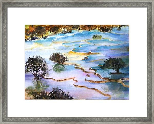 Huanglong Splendour Framed Print