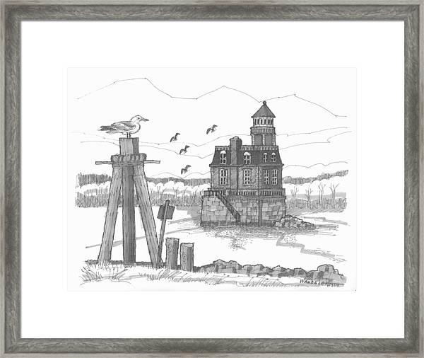 Hudson-athens Lighthouse Framed Print