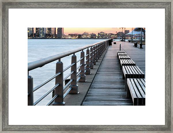 Hudson River Park Framed Print by JC Findley