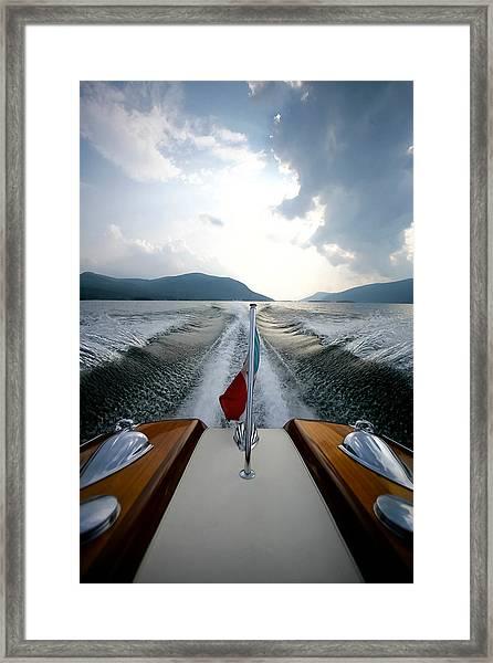 Hudson River Riva Framed Print