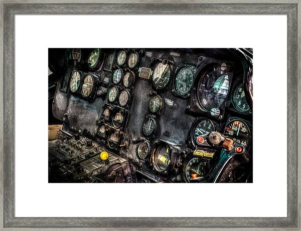 Huey Instrument Panel 2 Framed Print