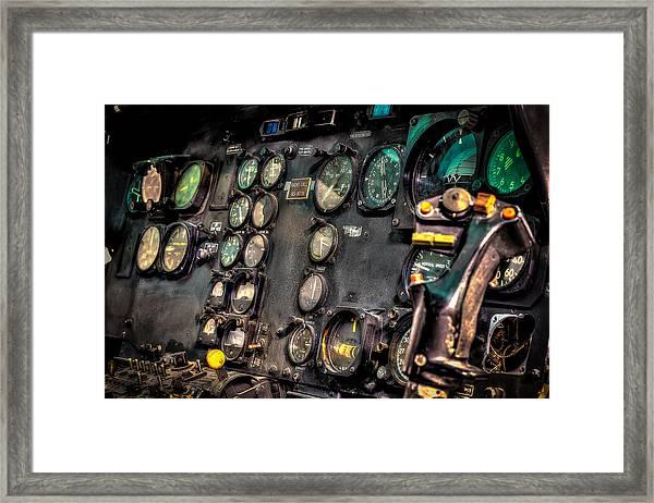 Huey Instrument Panel Framed Print