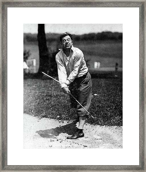 Huey P. Long Play Golf Framed Print by Artist Unknown