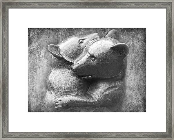 Huggy Bears Framed Print