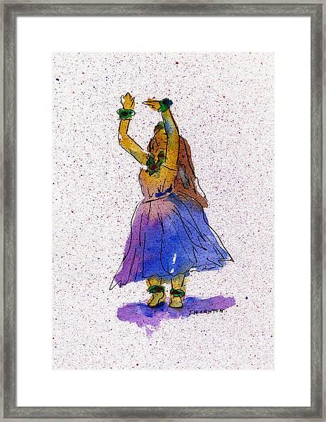 Hula Series Melika Framed Print
