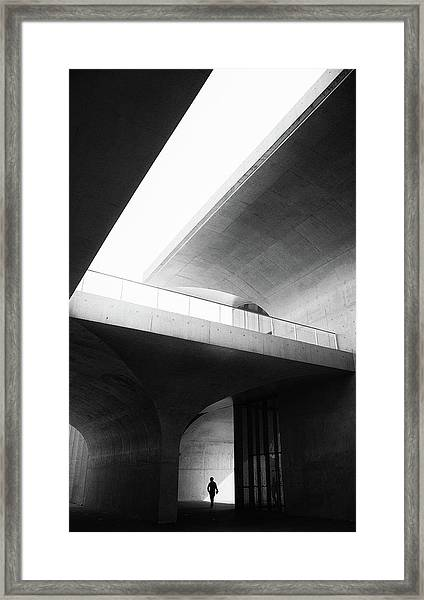 Human In Geometry Framed Print by Windancer