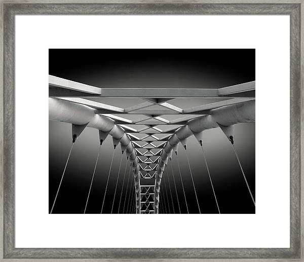Humber Bridge Framed Print by Ivan Huang