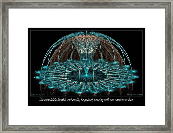 Humble And Gentle Framed Print