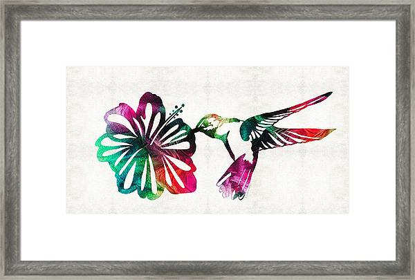 Hummingbird Art - Tropical Chorus - By Sharon Cummings Framed Print