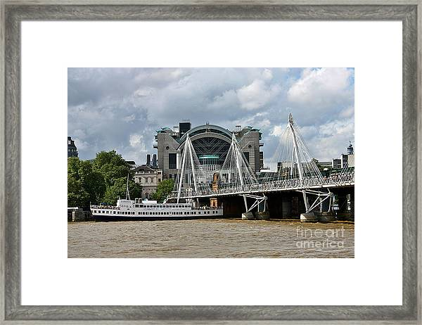 Hungerford Bridge And Charing Cross Framed Print