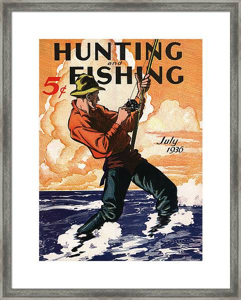 Hunting And Fishing Framed Print