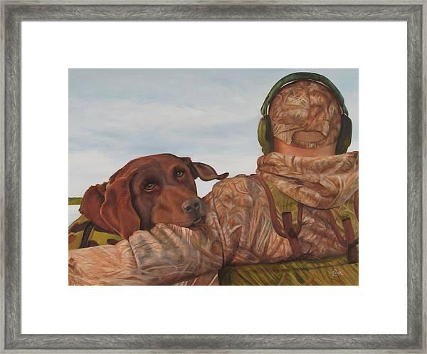 Hunting Boyfriend Framed Print