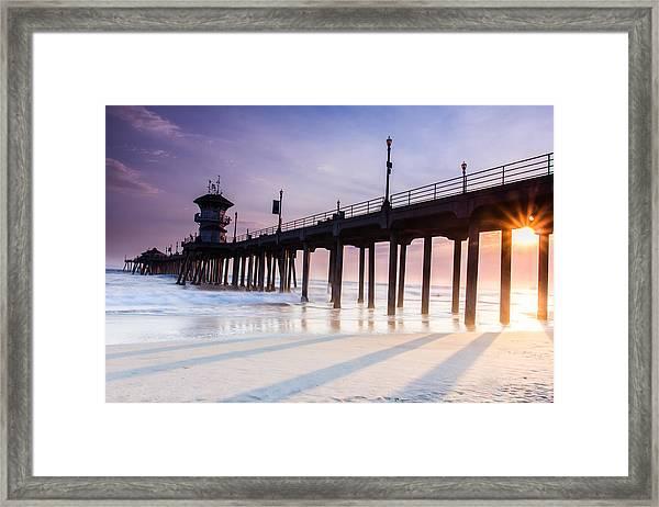 Huntington Pier Framed Print