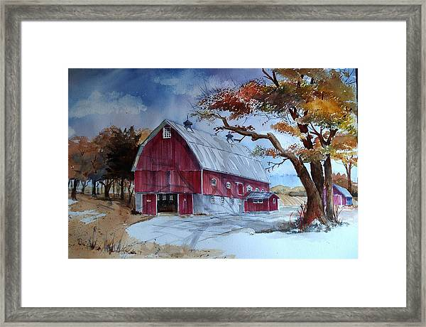 Huntley Farm Framed Print