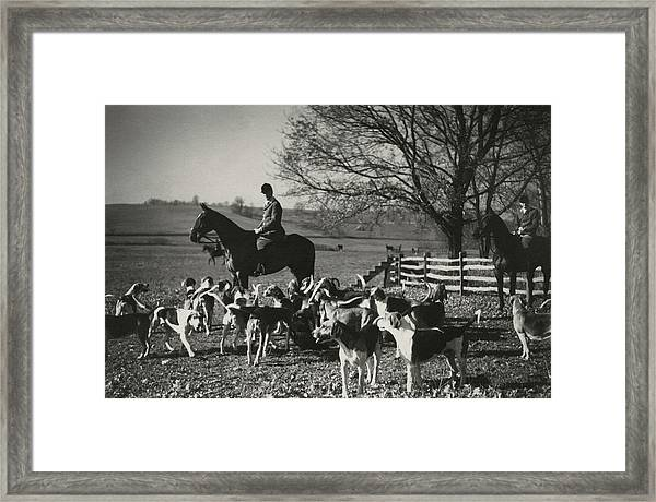 Huntsman Alfred Smithwick Sitting On His Horse Framed Print