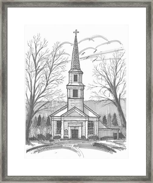 Hurley Reformed Church Framed Print