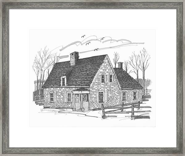Hurley Stone House Framed Print