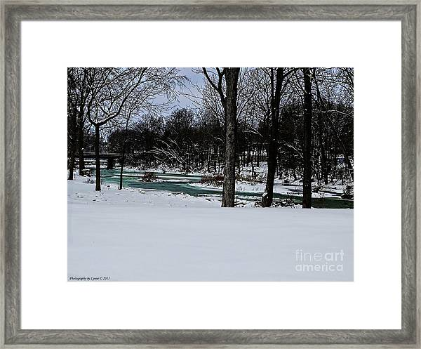 Huron River In Monroeville Framed Print