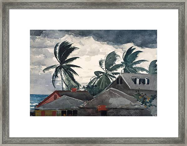 Hurricane Bahamas Framed Print