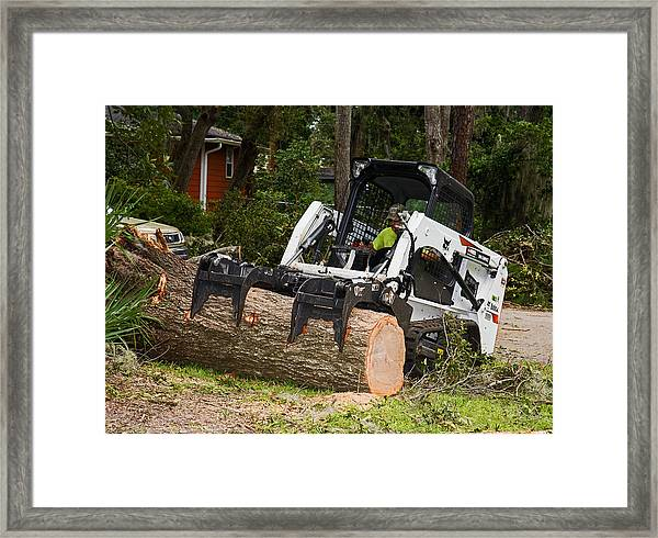 Hurricane Irma Damage, Bobcat Tractor Framed Print by Millard H. Sharp