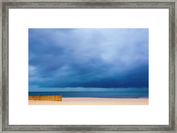 Hurricane Katrina Approaching Shore Framed Print