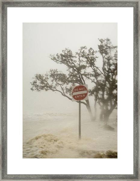 Hurricane Katrina Lashing Gulfport Framed Print