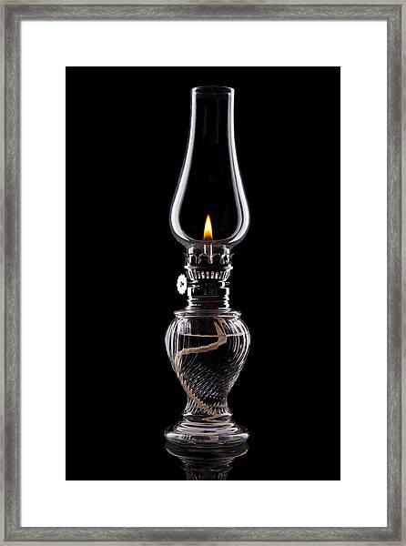 Hurricane Lamp Still Life Framed Print
