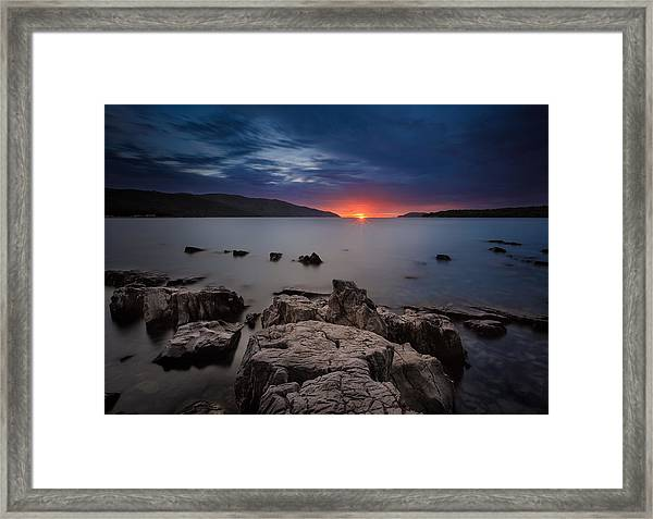 Hvar Sunset Framed Print