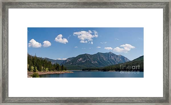 Hyalite Reservoir -- South View Framed Print