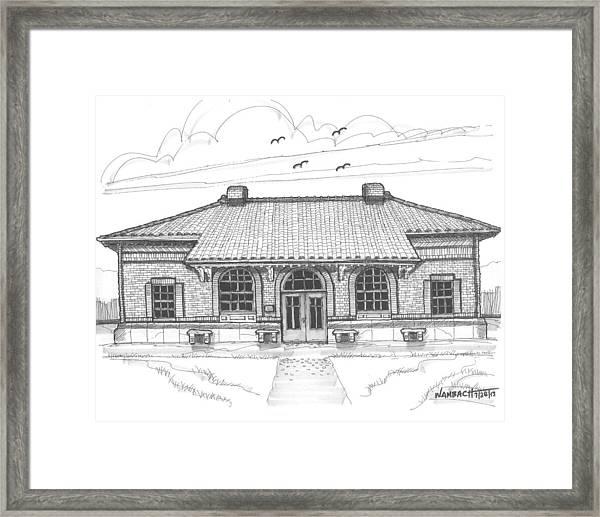 Hyde Park Historic Train Station Framed Print