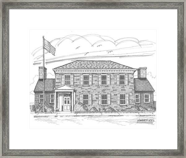 Hyde Park Post Office Framed Print