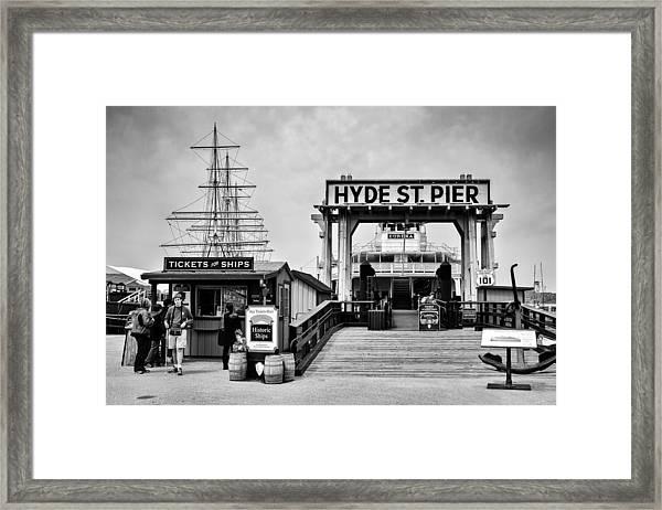 Hyde St. Pier Framed Print