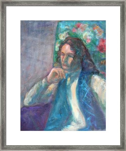 I Am Heathcliff - Original Painting  Framed Print