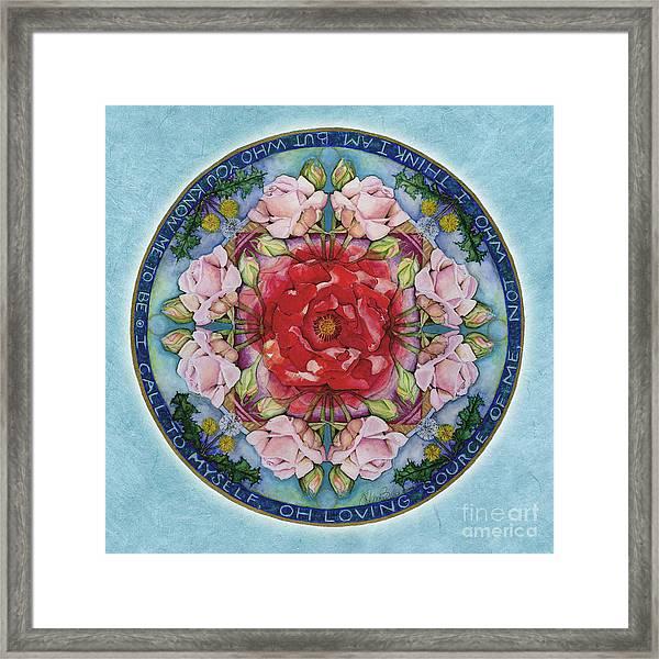 I Am That Mandala Framed Print