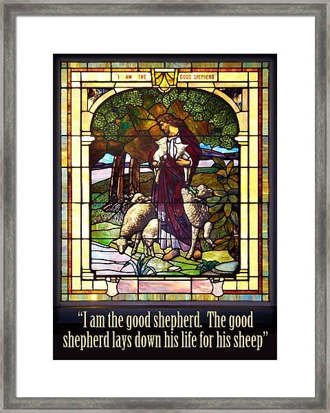 I Am The Good Shepherd Framed Print