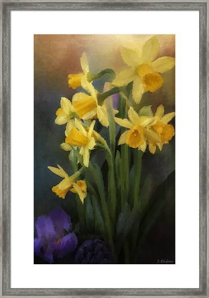 I Believe - Flower Art Framed Print