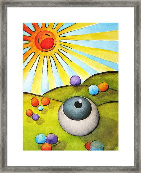 I Can See Clearly Now Framed Print