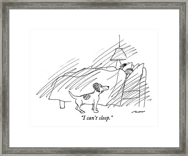 I Can't Sleep Framed Print