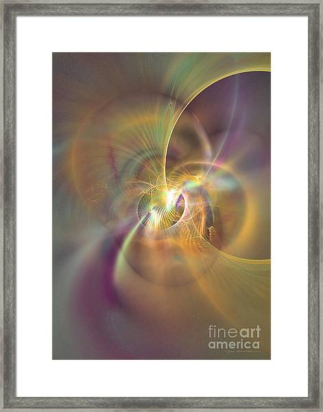 I Feel You Framed Print