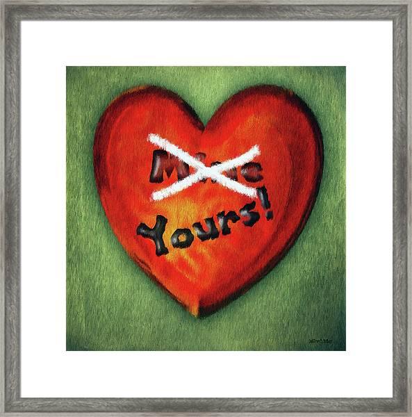 I Gave You My Heart Framed Print