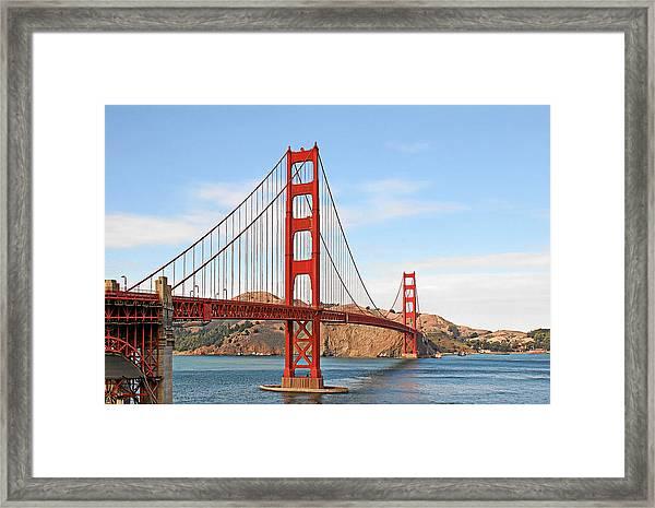 I Guard The California Shore - Golden Gate Bridge San Francisco Ca Framed Print