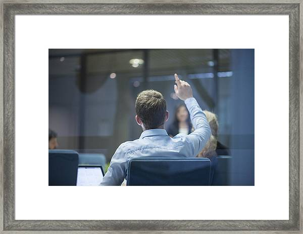 I Have A Question Framed Print by AzmanJaka