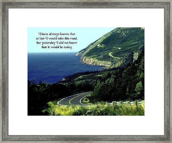 I Have Always Known Framed Print by Mike Flynn