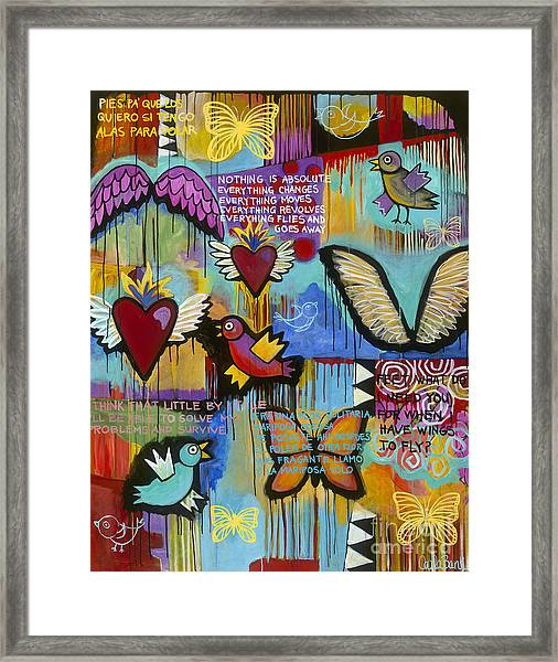 Framed Print featuring the painting I Have Wings To Fly by Carla Bank